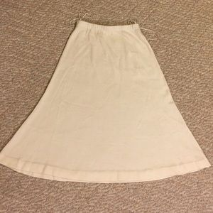 Vintage off white cream sweater skirt